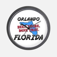 orlando florida - been there, done that Wall Clock
