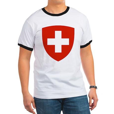 Switzerland Coat of Arms Ringer T
