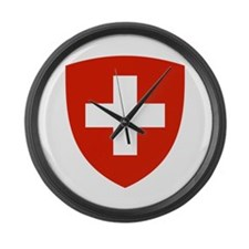 Switzerland Coat of Arms Large Wall Clock
