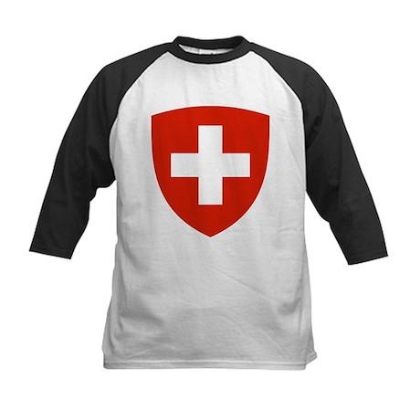 Switzerland Coat of Arms Kids Baseball Jersey