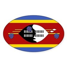 swaziland Flag Oval Decal