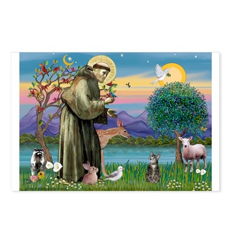 St Francis / Tab Tiger Cat Postcards (Package of 8