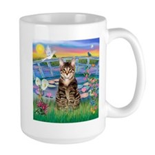 Lilies / Tab Tiger Cat Mug