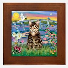 Lilies / Tab Tiger Cat Framed Tile