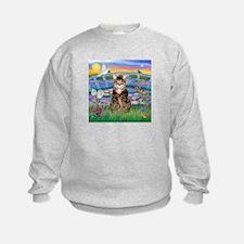Lilies / Tab Tiger Cat Sweatshirt