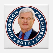 Newt Gingrich for President Tile Coaster