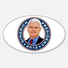 Newt Gingrich for President Oval Decal