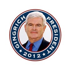 """Newt Gingrich for President 3.5"""" Button"""