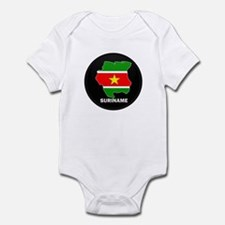 Flag Map of suriname Onesie