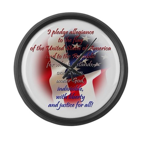 Pledge of allegiance Large Wall Clock