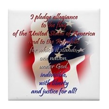 Pledge of allegiance Tile Coaster