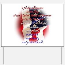 Pledge of allegiance Yard Sign