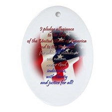 Pledge of allegiance Oval Ornament