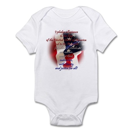 Pledge of allegiance Infant Bodysuit