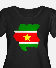 suriname Flag Map T
