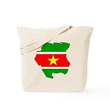 suriname Flag Map Tote Bag
