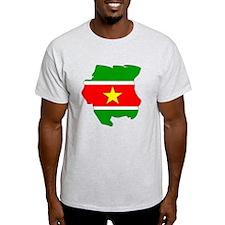 suriname Flag Map T-Shirt