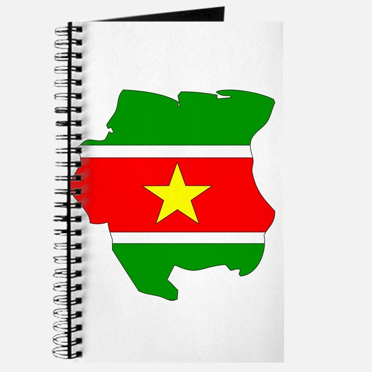 suriname Flag Map Journal