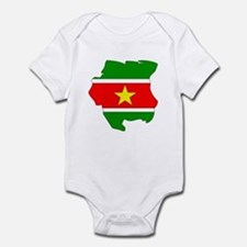 suriname Flag Map Onesie