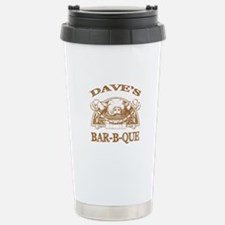 Dave's Personalized Name Vintage BBQ Travel Mug