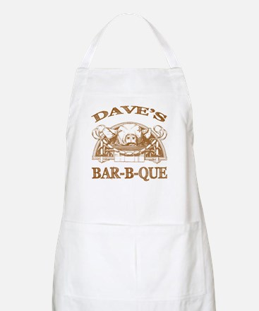 Dave's Personalized Name Vintage BBQ BBQ Apron