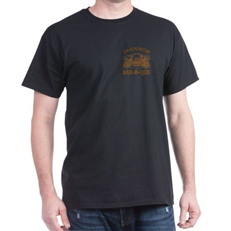 Dave's Personalized Name Vintage BBQ Dark T-Shirt