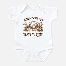 Dave's Personalized Name Vintage BBQ Infant Bodysu