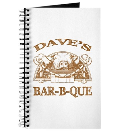 Dave's Personalized Name Vintage BBQ Journal