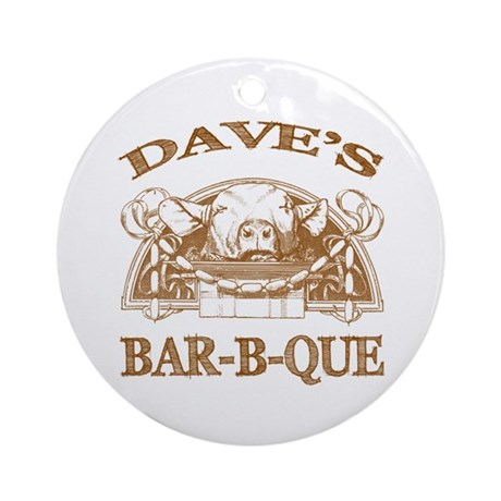 Dave's Personalized Name Vintage BBQ Ornament (Rou