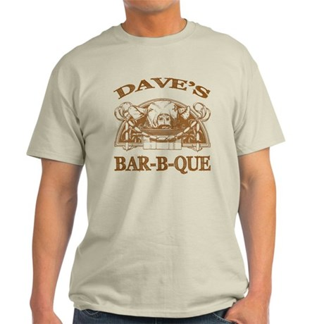 Dave's Personalized Name Vintage BBQ Light T-Shirt