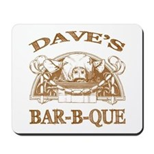 Dave's Personalized Name Vintage BBQ Mousepad