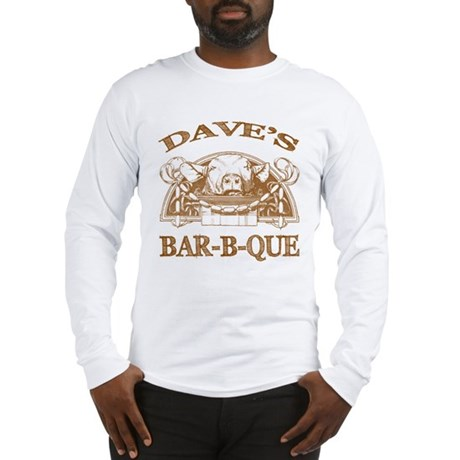 Dave's Personalized Name Vintage BBQ Long Sleeve T