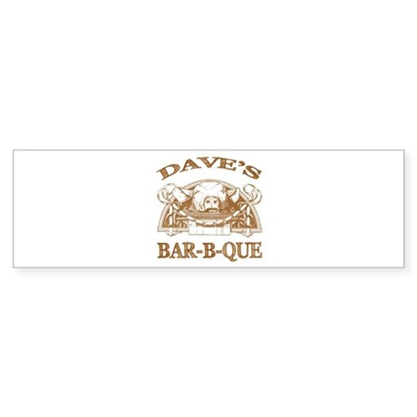 Dave's Personalized Name Vintage BBQ Sticker (Bump