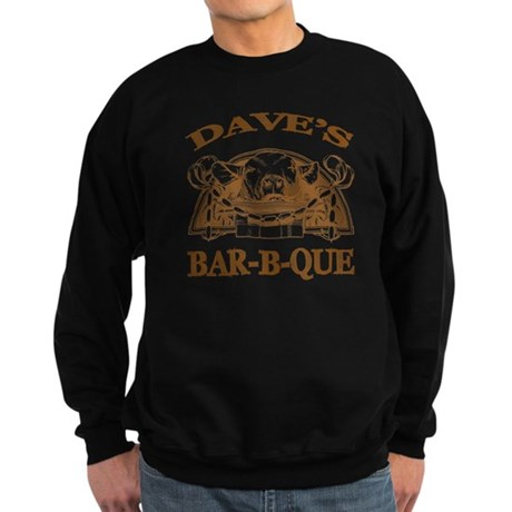 Dave's Personalized Name Vintage BBQ Sweatshirt (d