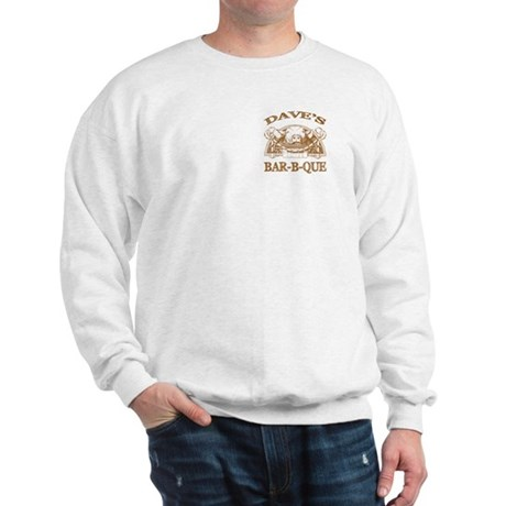 Dave's Personalized Name Vintage BBQ Sweatshirt