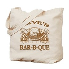 Dave's Personalized Name Vintage BBQ Tote Bag