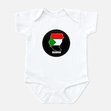 Flag Map of sudan Infant Bodysuit