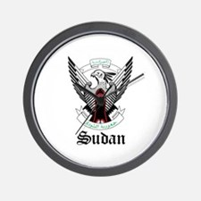 Sudanese Coat of Arms Seal Wall Clock