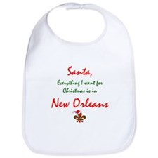New Orleans Christmas Bib
