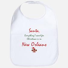 New Orleans Christmas Bib