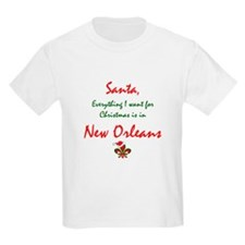 New Orleans Christmas Kids T-Shirt