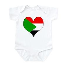 I Love sudan Infant Bodysuit
