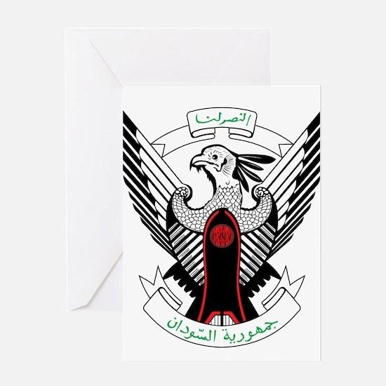 sudan Coat of Arms Greeting Card