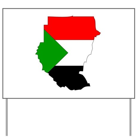 sudan Flag Map Yard Sign