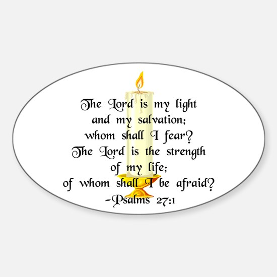 """The Lord is my light..."" Oval Decal"