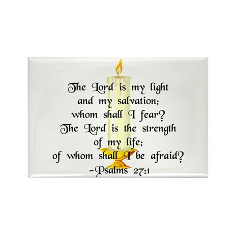 """""""The Lord is my light..."""" Rectangle Magnet (10 pk)"""
