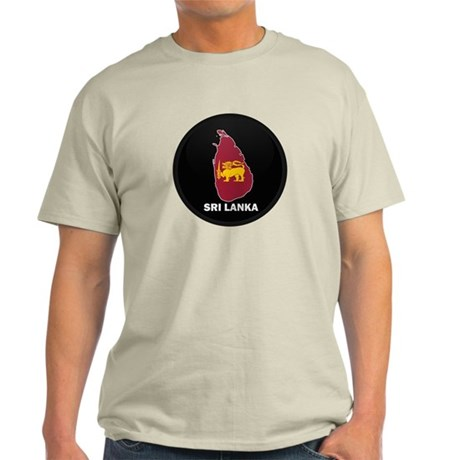 Flag Map of Sri Lanka Light T-Shirt