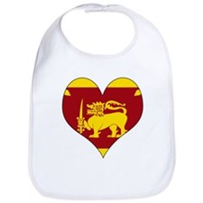 I Love Sri Lanka Bib