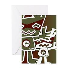 Robot Mascot Greeting Card