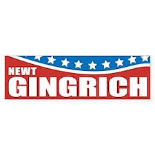 Gingrich Patriotic Bumper Car Sticker